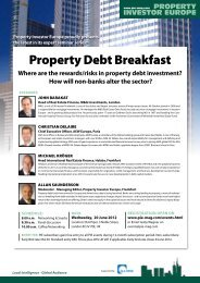 Property Debt Breakfast - Property Investor Europe