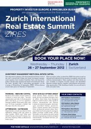 Zurich International Real Estate Summit ZIRES - Property Investor ...