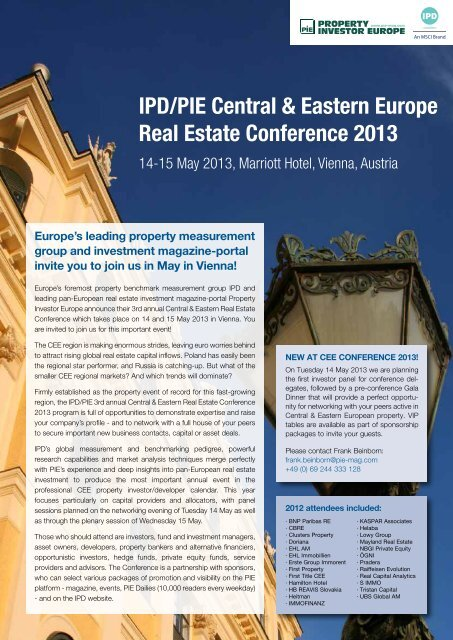 event brochure (PDF) - Property Investor Europe