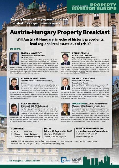 austria-Hungary property Breakfast - Property Investor Europe