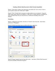 Creating a Works Cited Document in MLA Format Using Word Step ...