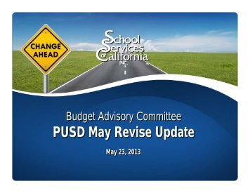 Governor's May Revise Budget Presentation - Piedmont Unified ...