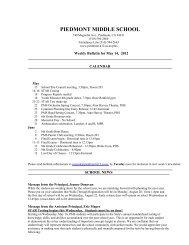 Bulletin 05/14/12 - Piedmont Unified School District