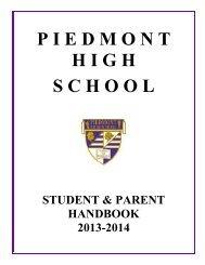 Student Handbook - Piedmont Unified School District