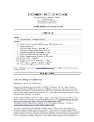 Bulletin 01/30/12 - Piedmont Unified School District