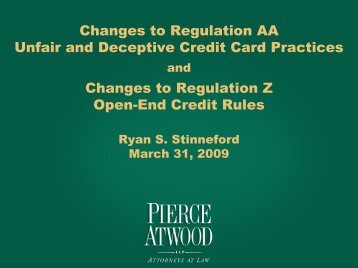 Changes to Regulation AA Unfair and Deceptive Credit Card ...