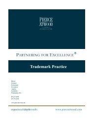 Trademark Practice - Pierce Atwood LLP