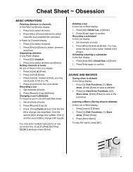 Cheat Sheet - ETC
