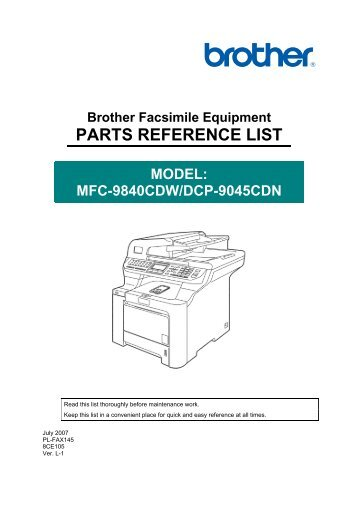NOTE FOR USING THIS PARTS REFERENCE LIST - Piezas y Partes