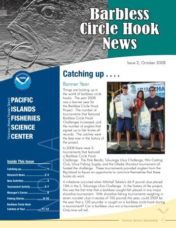 Barbless Circle Hook News - Pacific Islands Fisheries Science ...
