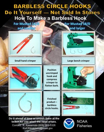 How To Make a Barbless Circle Hook - NOAA
