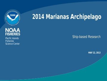 2014 Marianas Archipelago - Pacific Islands Fisheries Science ...