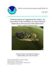 Chemoreception in Loggerhead Sea Turtles - Pacific Islands ...
