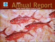 2009 (3.7 MB, PDF) - Pacific Islands Fisheries Science Center - NOAA