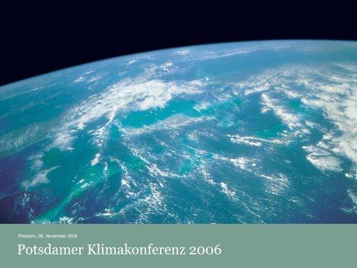 Potsdamer Klimakonferenz 2006 - Potsdam Institute for Climate ...