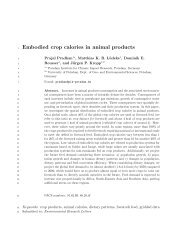 Embodied crop calories in animal products - Potsdam Institute for ...