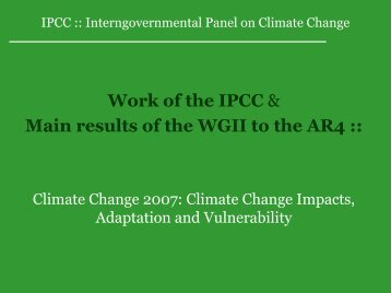 IPCC - Potsdam Institute for Climate Impact Research