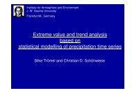 Extreme value and trend analysis based on statistical modelling of ...