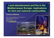 Land abandonment and fire in the Mediterranean Europe ...