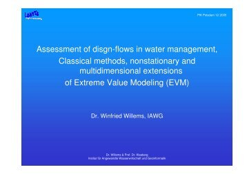 Assessment of disgn-flows in water management, Classical methods ...