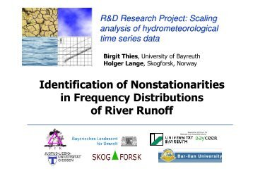 Methods and Examples for Identification of Non-Stationarities in ...