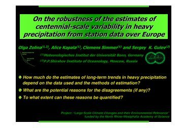 On the robustness of the estimates of centennial-scale variability in ...