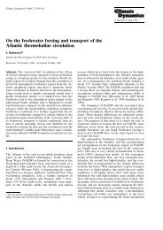 On the freshwater forcing and transport of the ... - Physics of Fluids
