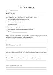 PLG Planungsbogen - PIK AS