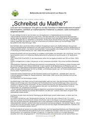 Schreibst du Mathe - PIK AS