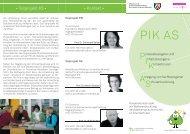PIK Flyer.indd - PIK AS - TU Dortmund