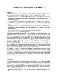 Kooperation von Schulämtern in NRW und PIK AS - PIK AS - TU ...