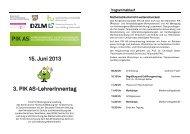 15. Juni 2013 3. PIK AS-LehrerInnentag - PIK AS - TU Dortmund