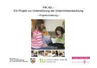 PIK AS – Ein Projekt zur Unterstützung der Unterrichtsentwicklung