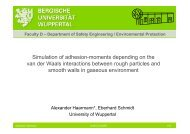 Simulation of adhesion-moments depending on the van der ... - PiKo
