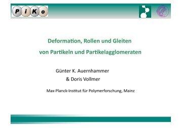 Deformation, Rollen und Gleiten von Partikeln und ...