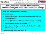 Willkommen und Einführung - PIKO - Partikel im Kontakt