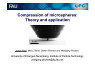 Compression of microspheres: Theory and application