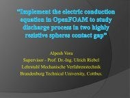 Implement the electric conduction equation in OpenFOAM to study ...