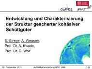 Entwicklung und Charakterisierung der Struktur gescherter ...