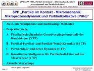 Grußworte - PIKO - Partikel im Kontakt