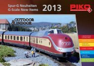 Spur-G Neuheiten G-Scale New Items 2013 - PIKO America