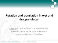 Rotation and translation in wet and dry granulates
