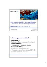 About contact models and their parameters - PiKo