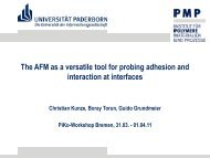 The AFM as a versatile tool for probing adhesion and ... - PiKo