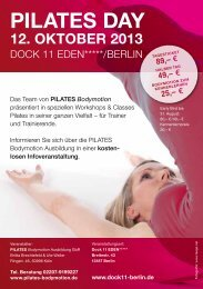 1. Bodymotion PilatesDay in Berlin am 12. Oktober 2013 - Via Pilates