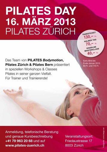 Pilates DaY 16. MärZ 2013 - Pilates Bodymotion