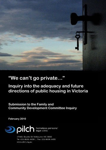 Inquiry into the adequacy and future directions of public ... - pilch