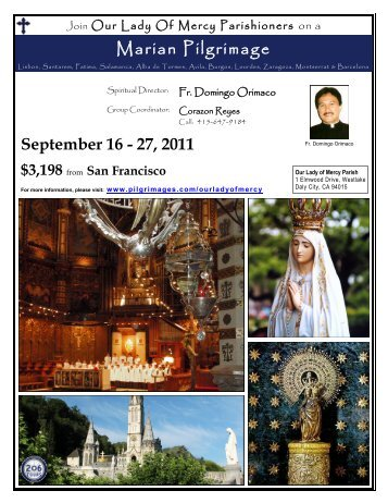Join Our Lady Of Mercy Parishioners on a - 206 Tours
