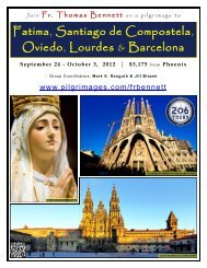 Fatima, Santiago de Compostela, Oviedo, Lourdes ... - 206 Tours