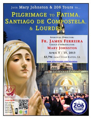 PILGRIMAGE TO FATIMA, SANTIAGO DE COMPOSTELA, - 206 Tours